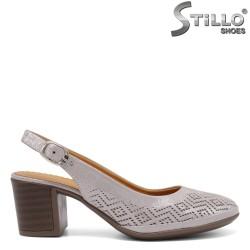 Pantofi cu toc din piele naturala - 33010