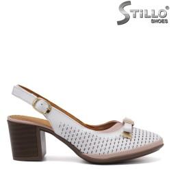 Sandale dama din piele naturala de culoare alb -33011