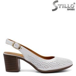 Pantofi dama cu toc din piele naturala - 33020