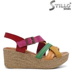 Sandale dama colorate pe platforma - 33047