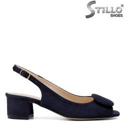 Sandale albastre de damă cu toc - 33053