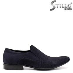 Pantofi de bărbat din nabuc natural - 33066