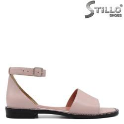 Sandale dama din piele naturala cu talpa dreapta - 33070