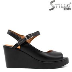 Sandale dama pe platforma din piele naturala - 33081