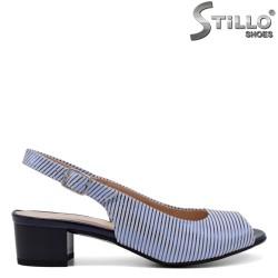 Sandale dama de culoare albastru si alb - 33083