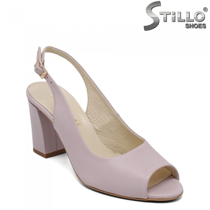 Sandale dama din piele naturala de culoare mov - 33085