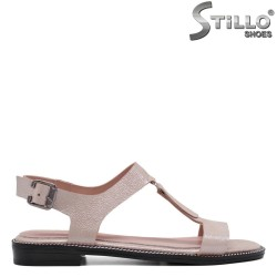 Sandale dama de culoare roz perlat din piele naturala - 33093