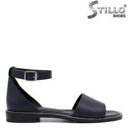 Sandale dama din piele naturala de culoare albastru - 33095