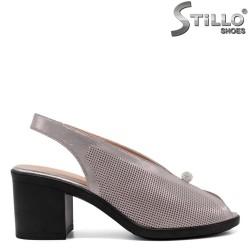 Sandale dama de culoare roz perlat pe platforma si cu toc - 33104
