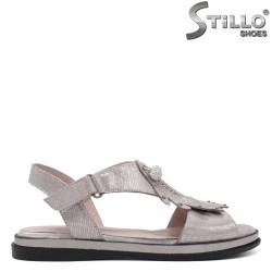 Sandale dama de culoare argintii cu talpa dreapta  - 33109