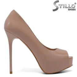 Pantofi dama pe platforma cu toc inalt marimi  33, 34  - 33116