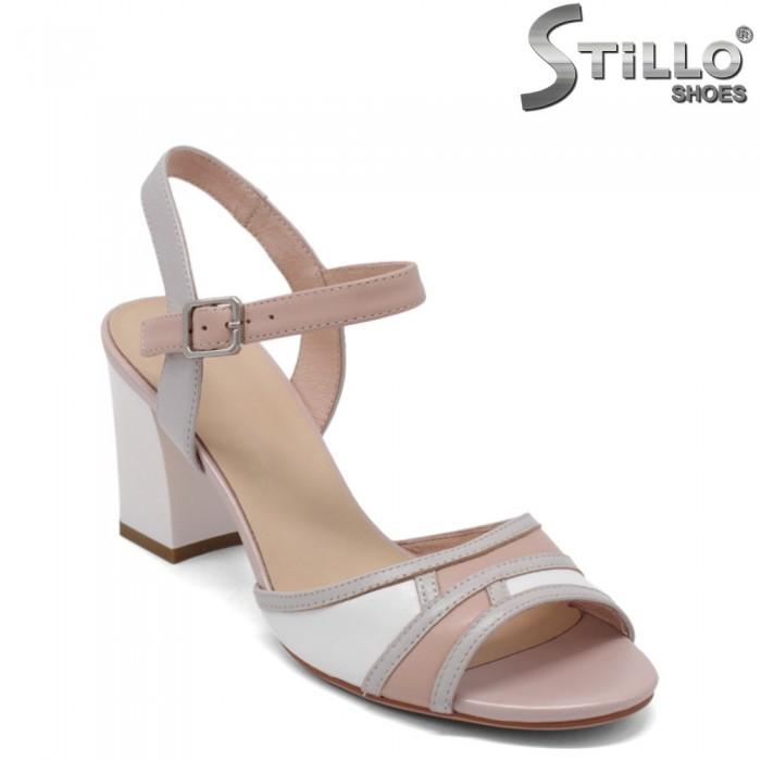 Sandale dama elegante de culoare roz,alb si gri - 33125