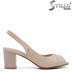 Sandale dama de culoare bej cu toc - 33126