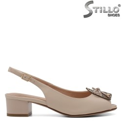 Sandale dama cu toc jos gros - 33129
