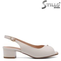 Sandale dama de culoare alb cu margine aurie - 33130