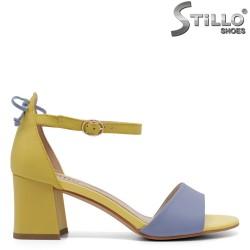 Sandale dama elegante de culoare albastru si galben - 33131