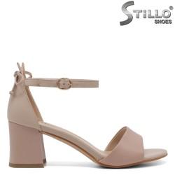 Sandale dama de culoare roz si bej cu toc mijlociu - 33138