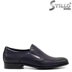 Pantofi barbati din piele naturala perforati - 33141