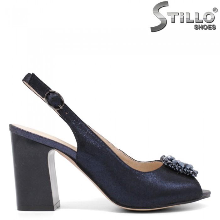 Sandale dama de culoare albastru cu pietricele - 33143