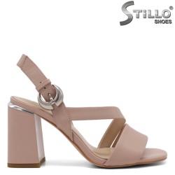 Sandale elegante de culoare roz si cu catarama - 33151