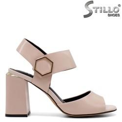 Sandale dama elegante de culoare roz cu toc - 33153