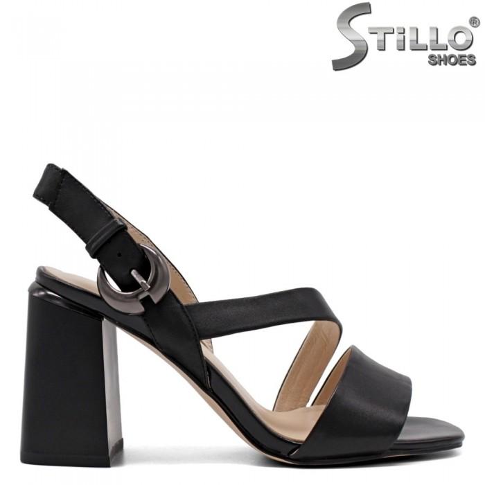 Sandale dama din piele naturala cu catarama - 33154