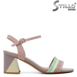 Sandale dama multicolor cu toc - 33159