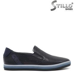 Pantofi barbati sport eleganti de culoare albastru inchis - 33180