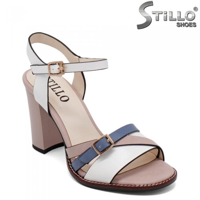 Sandale dama elegante de culoare roz,alb si albastru - 33184