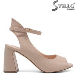 Sandale dama elegante cu toc inalt de culoare bej - 33186
