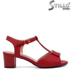 Sandale dama elegante de culoare rosu clasic - 33191