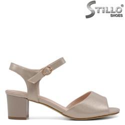 Sandale dama de culoare auriu perlat - 33192