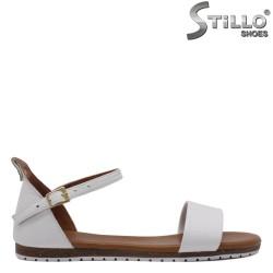 Sandale dama de culoare alb din piele naturala - 33211