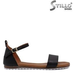 Sandale dama de zi cu zi din piele naturala de culoare negru - 33213