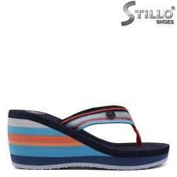 Papuci dama colorati pe platforma - 33227