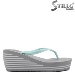 Papuci dama de culoare gri si menta - 33229