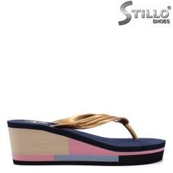 Papuci dama de plaja de culoare albstru inchis - 33230