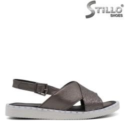Sandale dama argintii cu capse - 33234