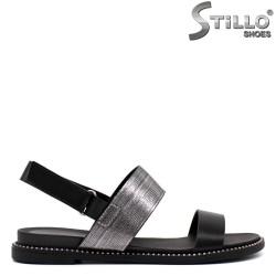 Sandale dama de culoare negru cu capse- 33237