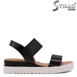Sandale dama de culoare negru cu elastic - 33239