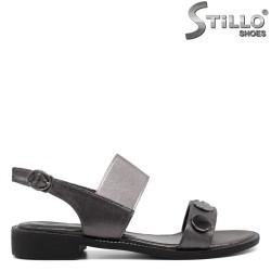 Sandale dama casual de culoare bronz - 33242