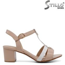 Sandale dama de culoare bej din lac ecologic - 33244