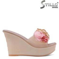 Papuci dama din silicon cu trandafiri - 33245