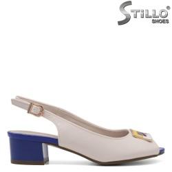 Sandale dama de culoare bej de culoare albastru - 33248