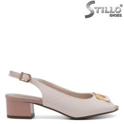 Sandale dama de culoare scrum de trandafiri  si bej - 33249