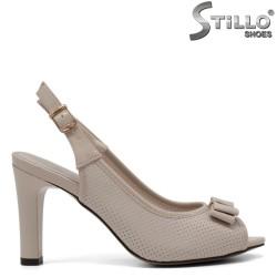 Sandale dama de culoare bej  cu toc inalt - 33250