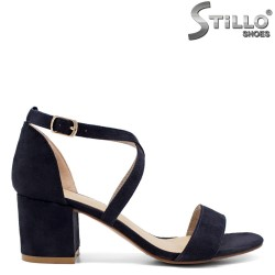 Sandale dama din velur de culoare albastru - 33251