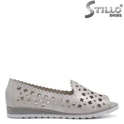 Pantofi dama casual de culoare argintiu - 33259