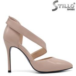 Pantofi dama din lac de culoare roz - 33262