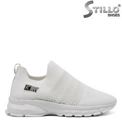 Pantofi dama sport de culoare alb - 33280